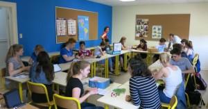 Bosseln, Grünkohl oder Plattdeutsch – die Emder informierten die kanadischen Schüler über ihre Heimat