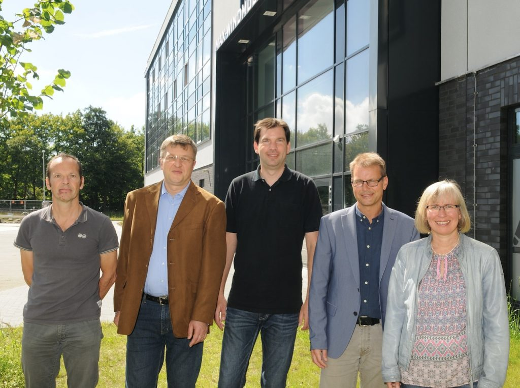v.l.n.r.: Severin Tillmann, Dr. Boris Benner, Ralf Martin, Frank Tapper, Dr. Ute Rüsch genannt Klaas