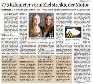 "Teil 6: ""775 Kilometer vorm Ziel streikte der Motor"""