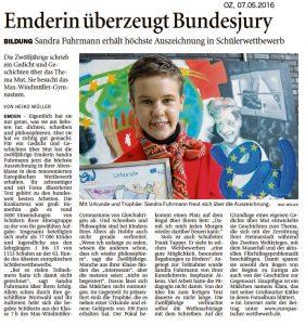 Bericht der Ostfriesen-Zeitung