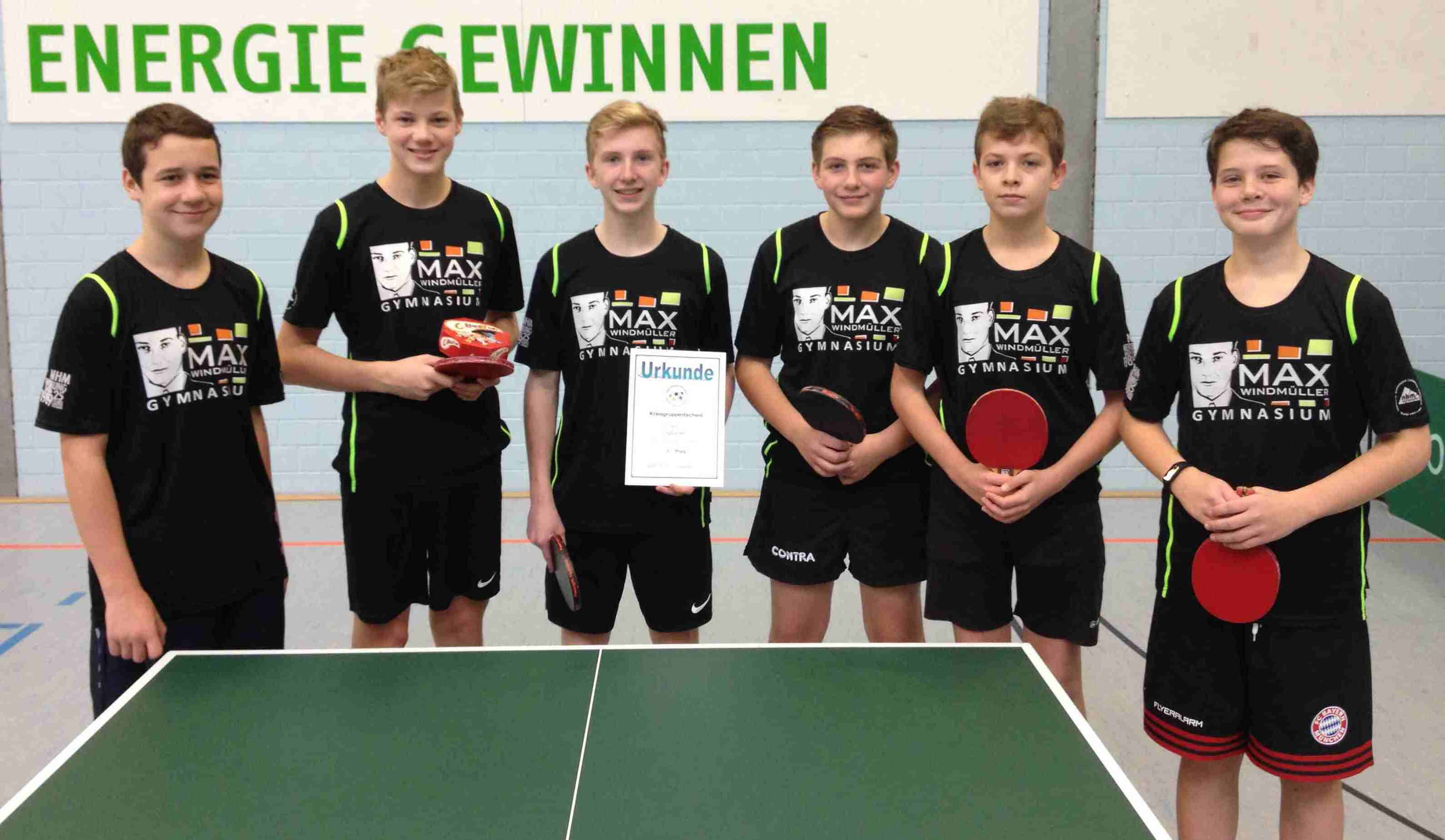 JtfO Tischtennis Kreisgruppenentscheid Jungen WK III