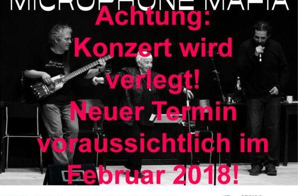 Wichtiger Hinweis: Konzert und Besuch werden wegen Krankheit verlegt!