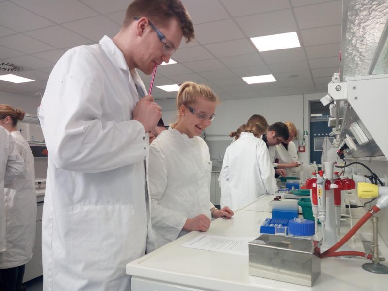 Bio-Lk gewinnt Einblicke in Laborarbeit an der HS Emden/Leer