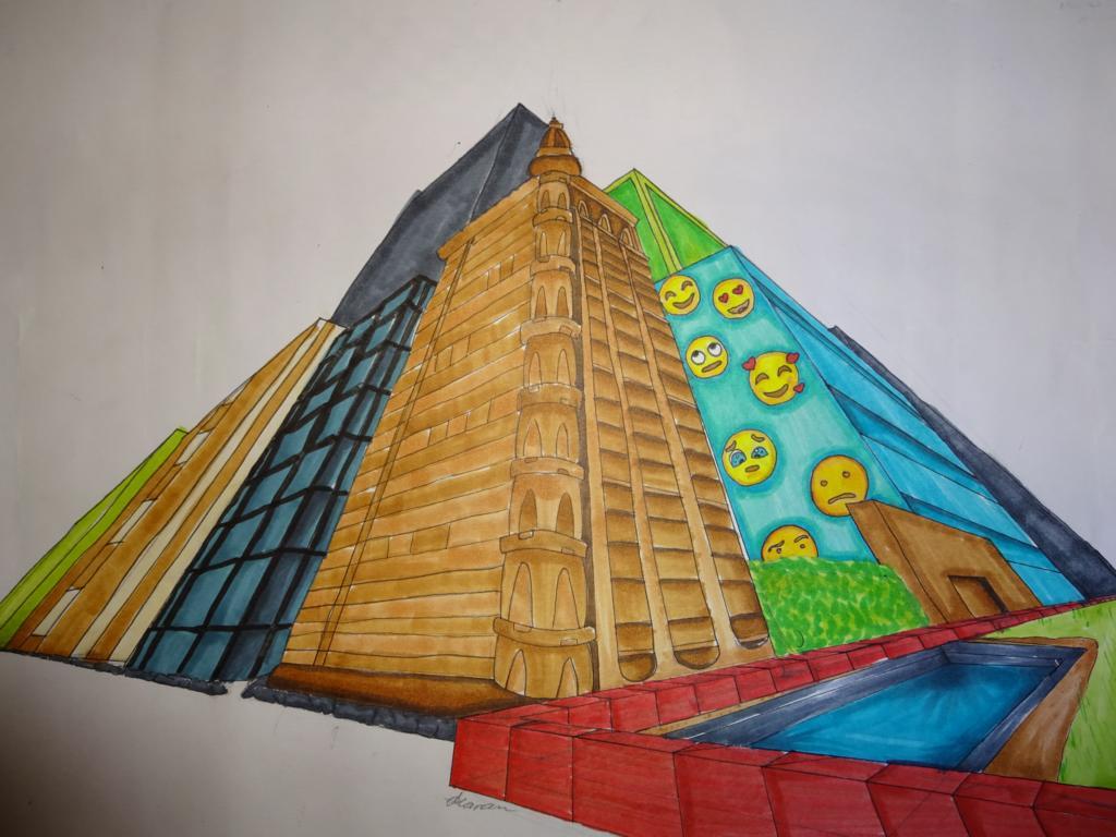 Kunst am Max – Bild des Raumes: Perspektive