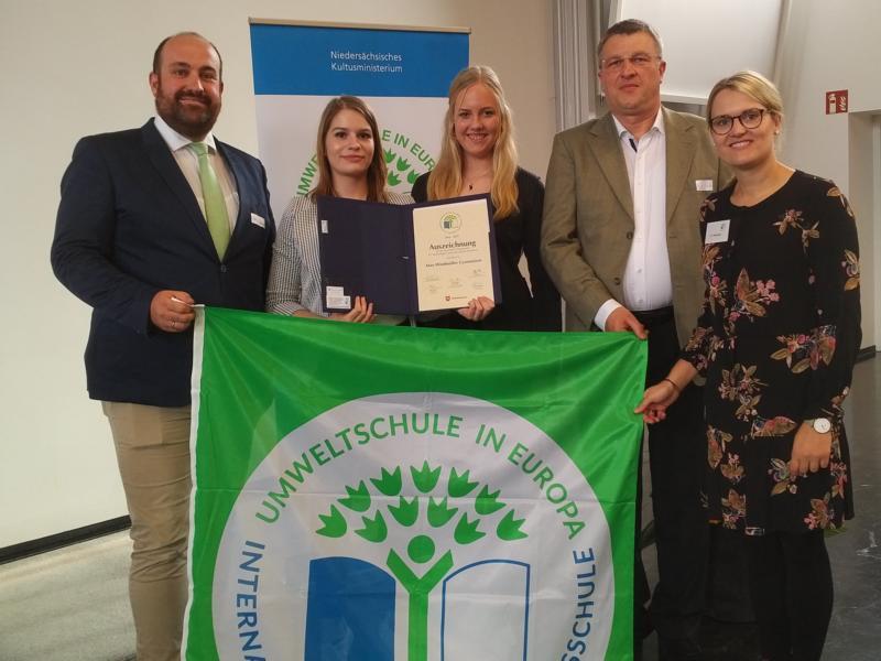 Umweltschule in Europa – Max wurde in Osnabrück für Bildungsprojekte ausgezeichnet