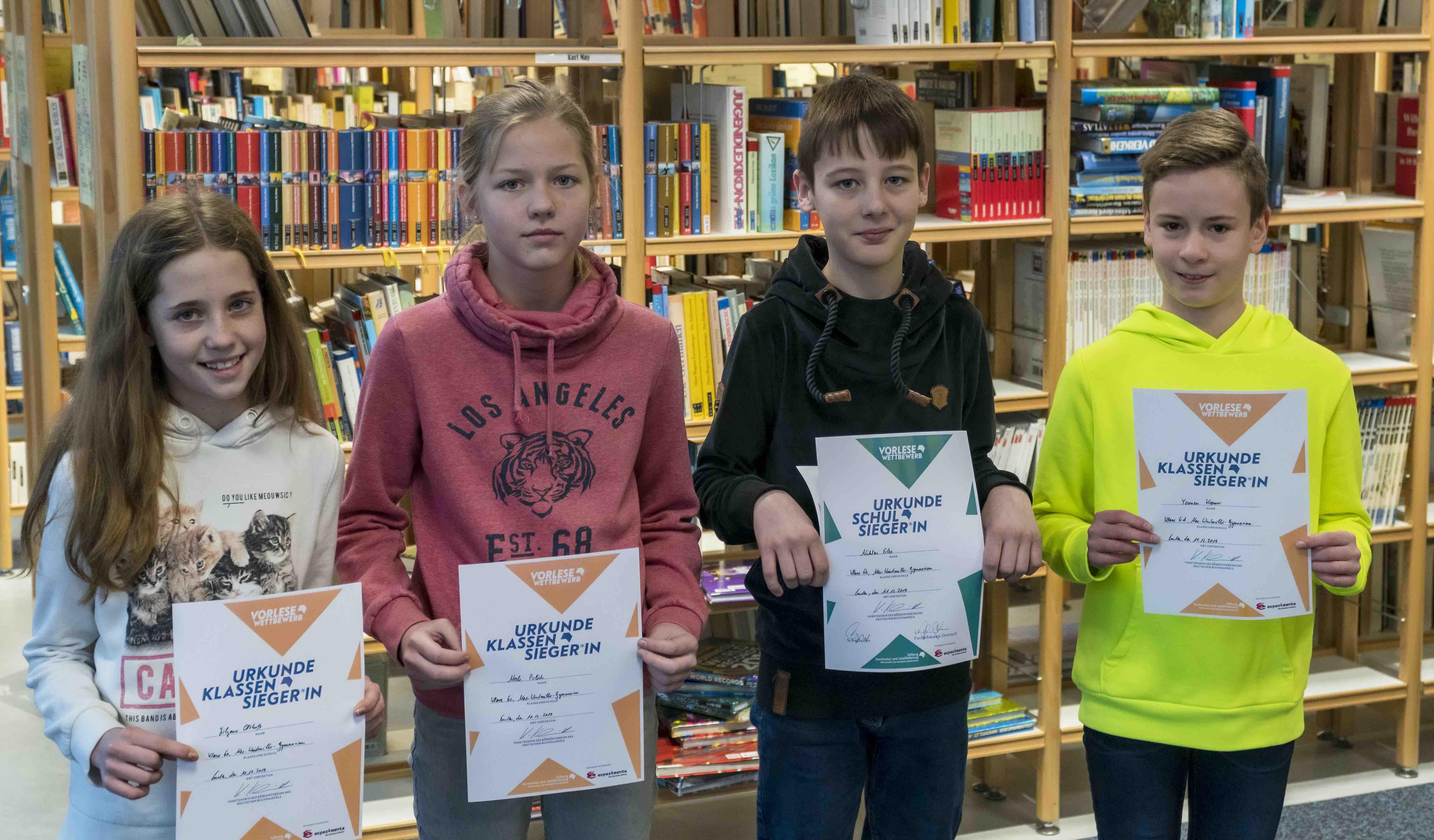61. Vorlesewettbewerb der 6. Klassen – Niklas Eilers ist Gewinner des Schulentscheids