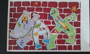 Kunst - Graffiti Klasse 7 (2018)