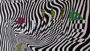 Kunst - Wandgestaltung: Bewegte Pause
