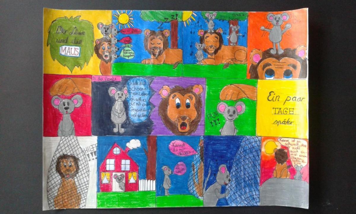 kunst am max  comics klasse 6d